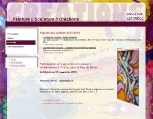 Aperçu site des créations d'Anne-Laure Letondoz