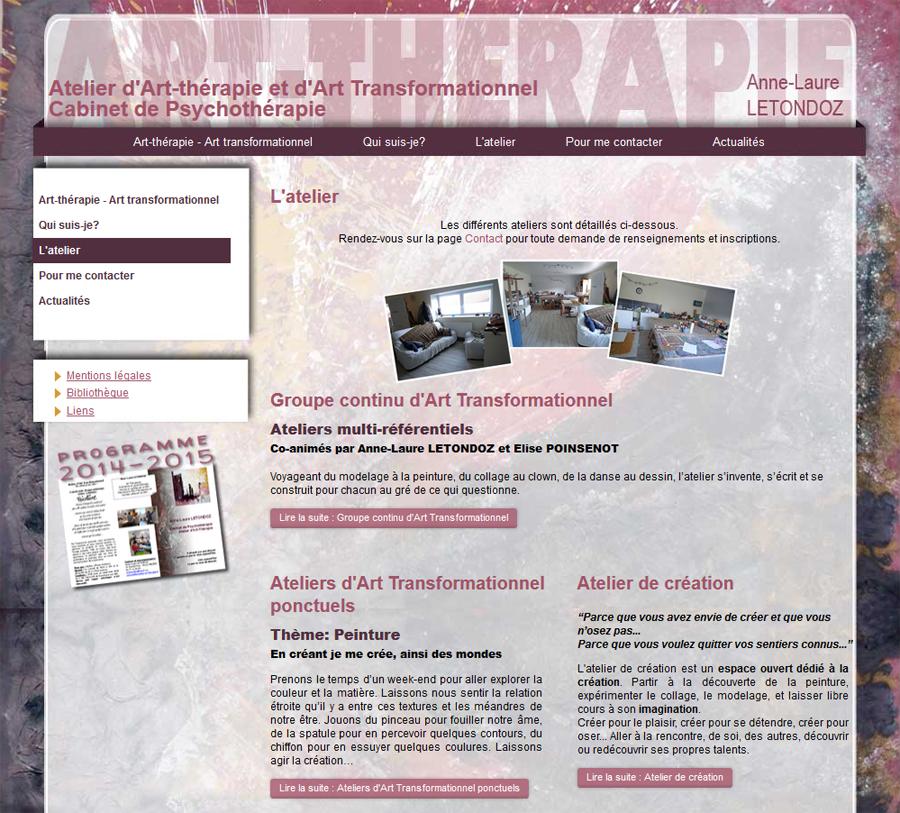 Aperçu site d' Anne-Laure Letondoz