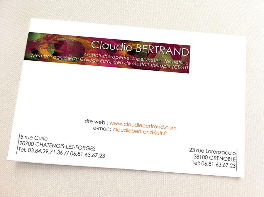 Carte De Visite Claudie Bertrand