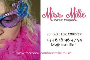 carte de visite de Miss Milie
