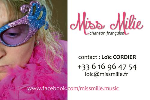 Carte De Visite Miss Milie