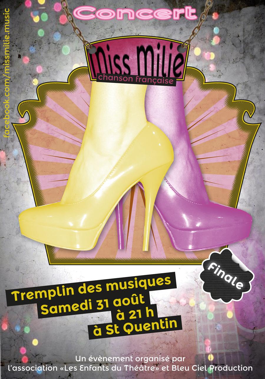 affiche d'un concert de Miss Milie