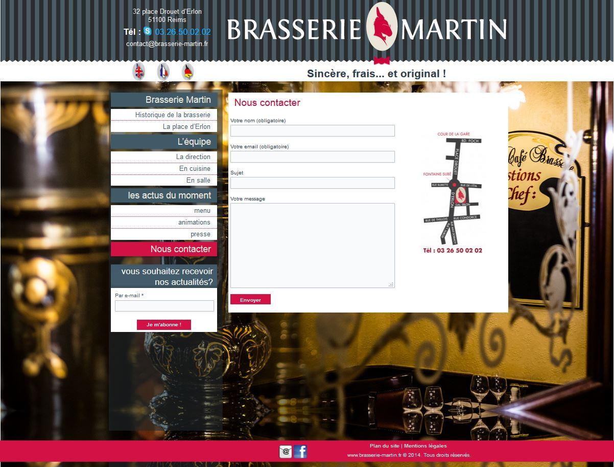 site de la Brasserie Martin