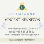 carte de visite Champagne Vincent Bennezon