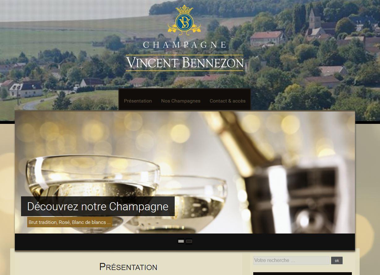 Site internet Vincent Bennezon