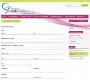 site du CEGt / partie du formulaire d'adhésion