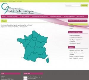 site du CEGt / carte interactive