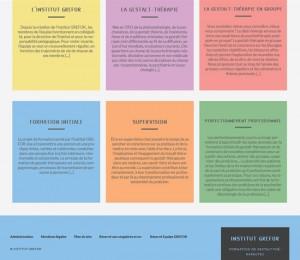 Site de Grefor - différents thèmes