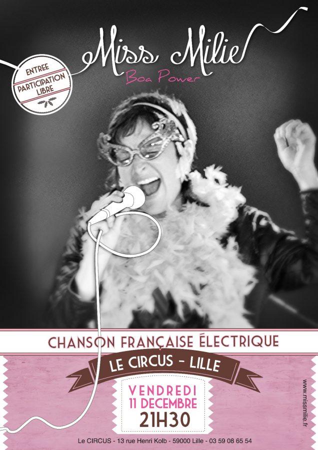 affiche concert miss milie Lille 11 decembre 2015