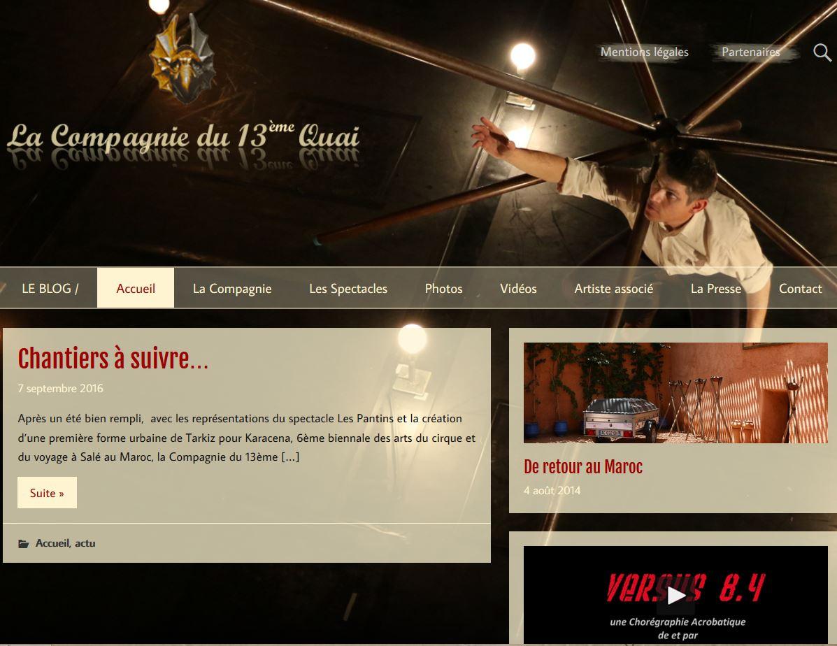 site internet compagnie 13 quai