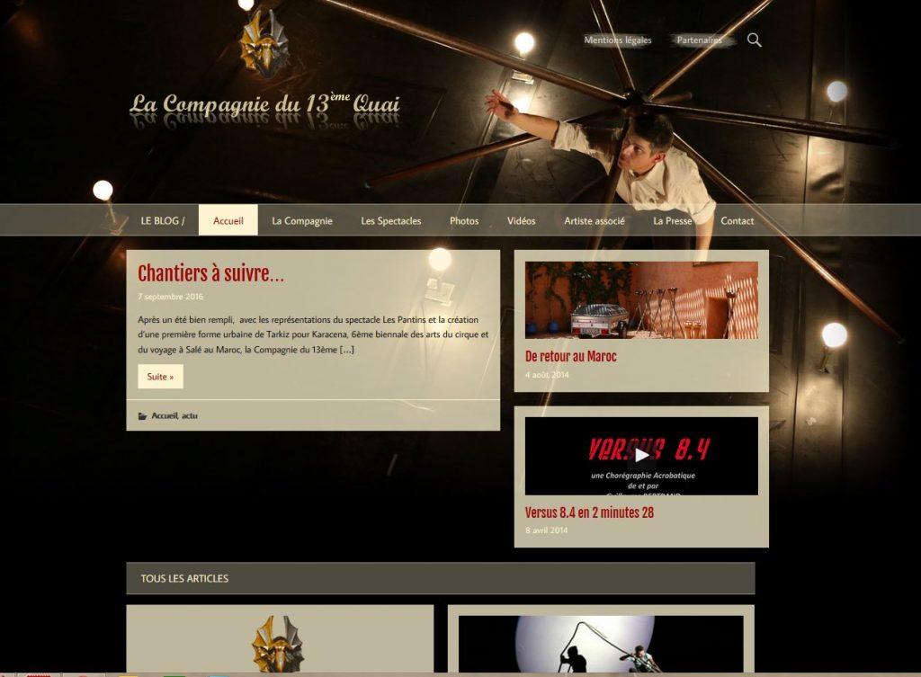 site internet de la compagnie du 13eme quai