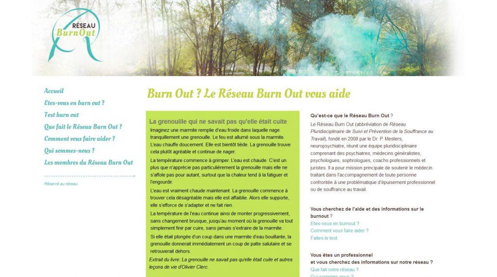 Site internet Réseau BurnOut