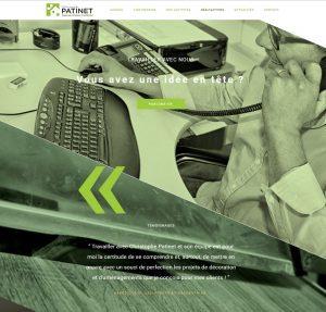 Site internet Menuiserie Patinet