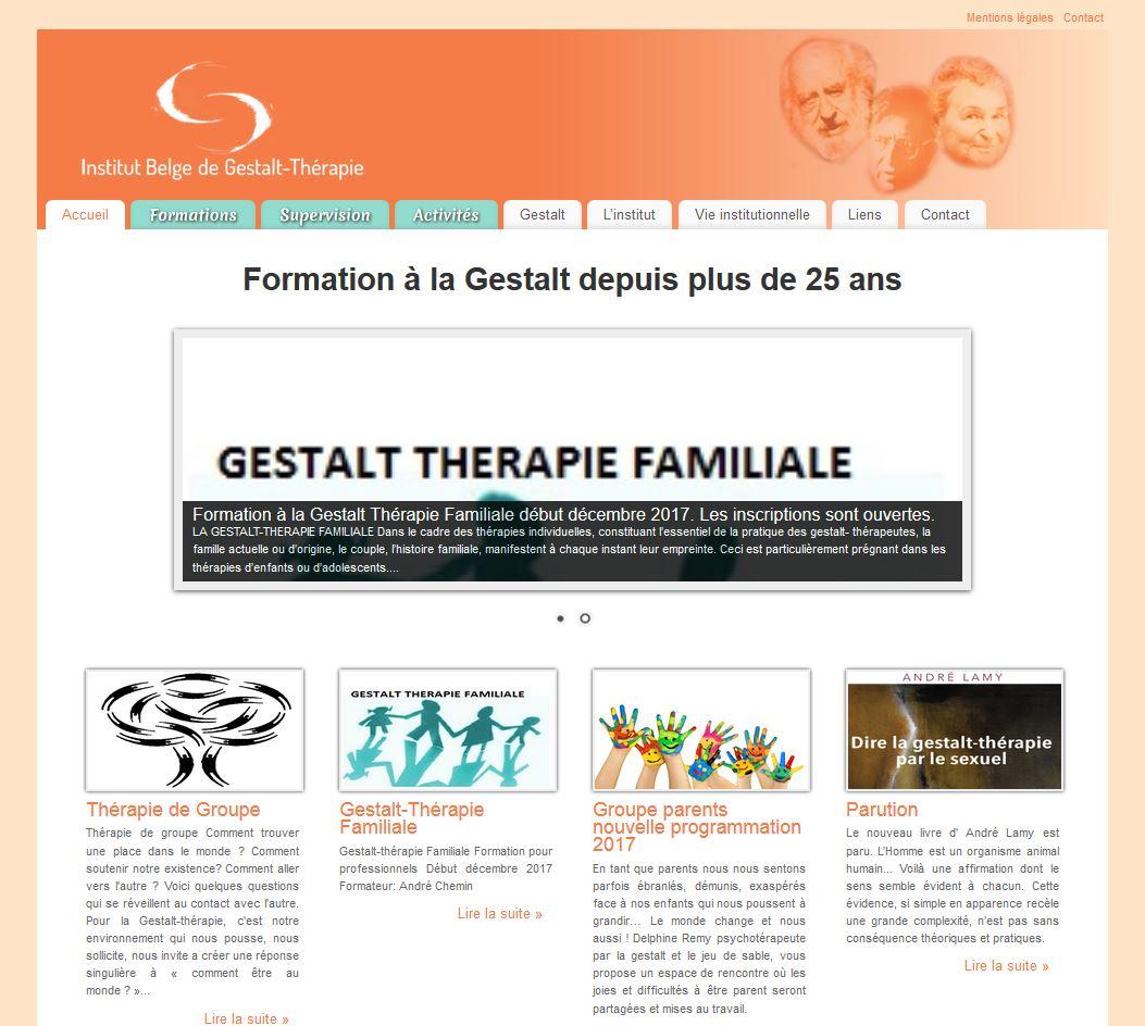 Site Institut Belge de Gestalt-thérapie