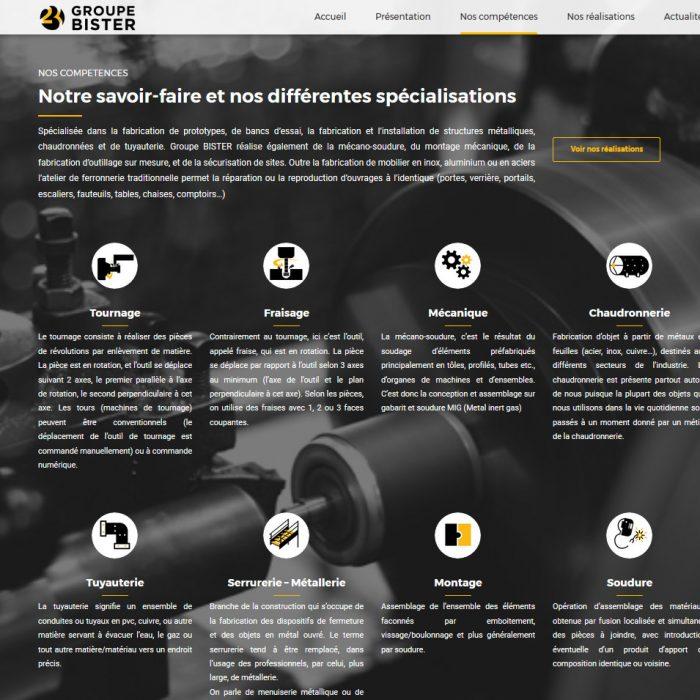 site internet groupe bister