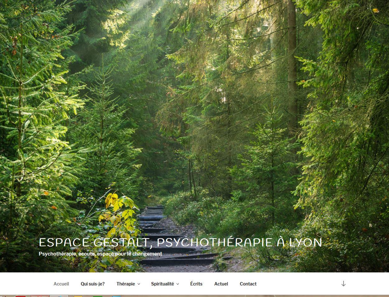 Site internet Espace Gestalt Lyon