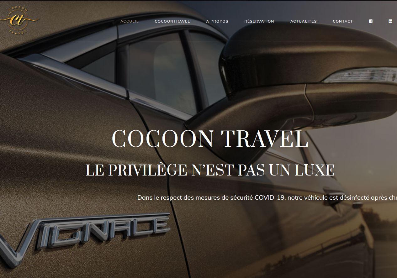 SIte web Cocoone Travel VTC Reims