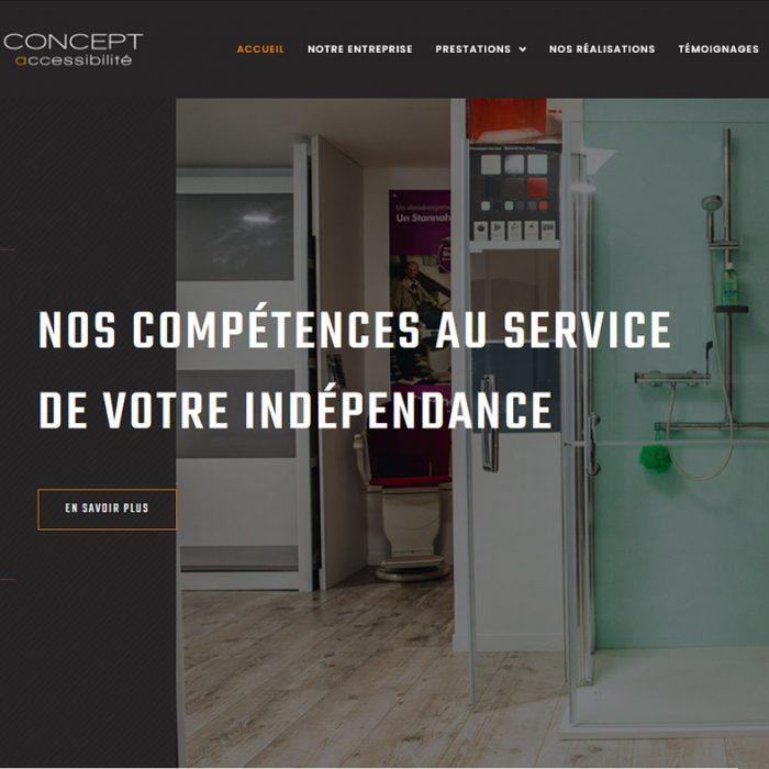 Site internet Concept Accessibilité