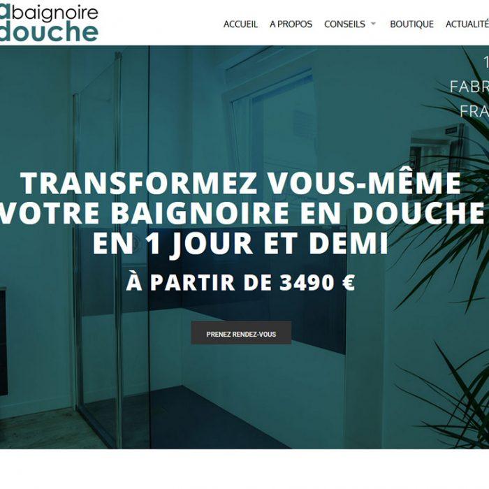 Site internet Ma Baignoire en Douche