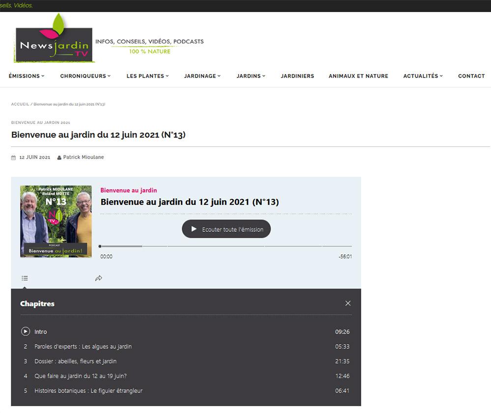 Site internet NewsJardinTV